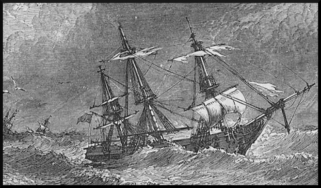 ship in storm, business problems, stormy seas, rough weather