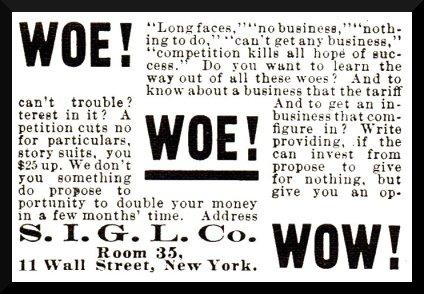 get rich quick ad, vintage scam ad